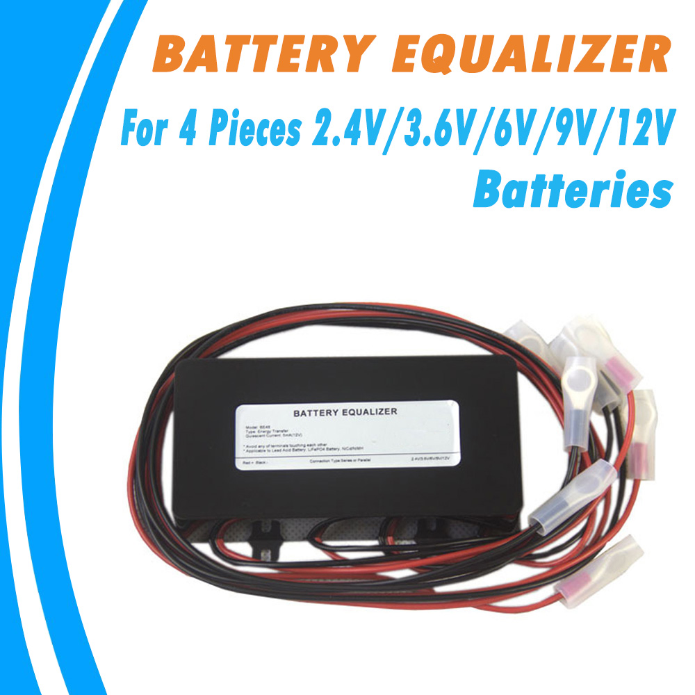 Battery Equalizer for 4PCS 2.4V/3.6V/6V/9V/12V Lead-acid/Lithium iron phosphate/nickelcadmium secondary Ni/MH Batteries Balancer