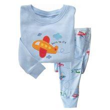 Хлопковая детская одежда с рисунком пижамы Детская Пижама для мальчиков и девочек детей 2 шт. пижамы Зебра рубашка+ Брюки для девочек пижама для мальчика C3