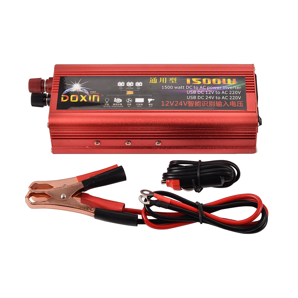 1500w power inverter automobile car power inverter dc 12v 24v to ac 220v modified sine