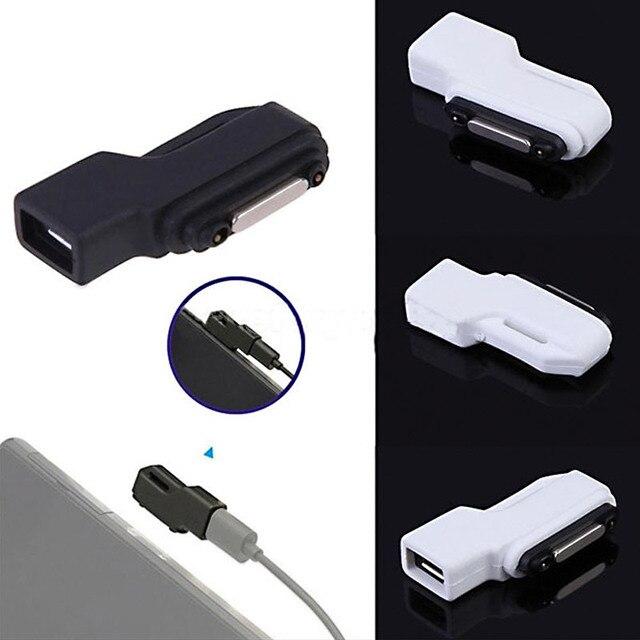 עבור SONY Xperia סדרת Z3 Z3 קומפקטי Z2, Z1, Z1 קומפקטי מיני, z3 Tablet קומפקטי מיקרו USB כדי מגנטי מטען מחבר מתאם