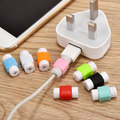 2000pcs Data Cord Connector Protector Protective Sleeves Cable Winder Cover Candy Color Just for iphone cable Random Color