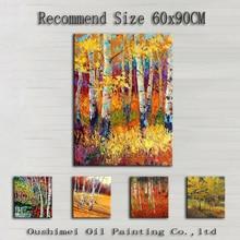 Высокое качество, много видов дерева, пейзаж, картина маслом на холсте, ручная работа, абстрактные березовые деревья, картина маслом для настенного художественного декора