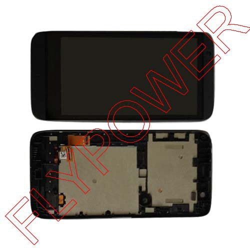 For HTC Desire 510 LCD display screen with touch screen digitizer + Frame assembly Black by free shipping for htc desire 816g lcd screen display with touch screen digitizer assembly by free shipping 100