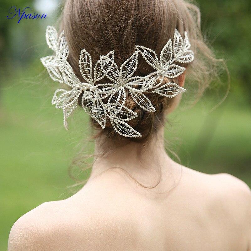Mode Diadème coiffure pour future mariée Femmes Strass Chapeaux Pleine Robe Accessoires Fête Décorer Mariée Cheveux Bijoux OrnamentsD2292