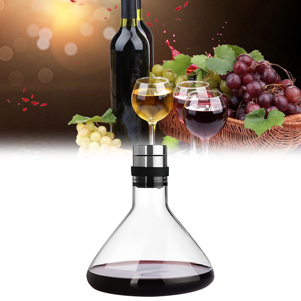 Wine Decanter Lead Free Wine Aerator For Enhanced Flavor 1000ml Carafe Made Of Crystal Glass For Wine Enthusiasts Other Bar Accessories Aliexpress