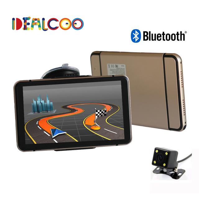 7 polegada TRUCK Car GPS Navigator 8 GB/DDR 256 M Bluetooth Retrovisor Câmera Novos Mapas Rússia/Bielorrússia/cazaquistão Europa/EUA + Canadá CAMINHÃO