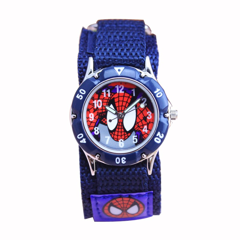 New Children Watches Boy Spiderman Hand Watch Gifts Spider Man Luminous Analog Nylon Strap Cartoon Kids Wristwatch Relogio