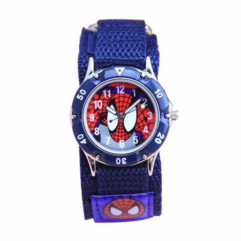 New Children Watches Boy Spiderman Hand Watch Gifts Spider Man Luminous Analog Nylon Strap Cartoon Kids Wristwatch Relogio