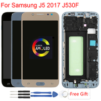 J530F AMOLED Original Display For Samsung Galaxy J5 2017 J530F LCD Display With Frame Touch Screen Assembly Replacement Parts