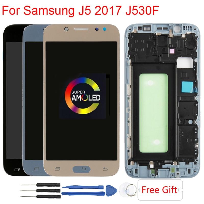 J530F AMOLED Écran D'origine Pour Samsung Galaxy J5 2017 J530F écran lcd Avec Cadre écran tactile Assemblée pièces de rechange