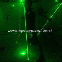 Wholesale One Pair Hand Green Laser Swords Laserman Show Pointers Projector For Stage Laser Show Dance DJ Club DHL Free Shipping