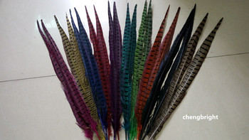 Wholesale 50pcs  natural pheasant feather 50-55cm/20-22inch diy Wedding Stage performance Clothes & Accessories Carnival