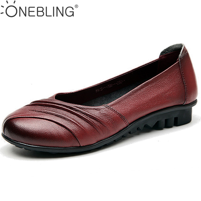 Size 35-40 Women Loafers 2017 Spring Autumn Fashion Genuine Leather Shallow Casual Shoes Pleated Shallow Soft Slip-on Flat Shoes new 2017 men s genuine leather casual shoes korean fashion style breathable male shoes men spring autumn slip on low top loafers