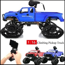 1/16 Scale RC Truck 480P HD Camera 4WD Electric Crawler 2.4GHz High Speed Monster 20-25Mins Life time Road Buggy