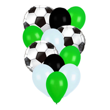 Hot 10Pcs Football Soccer Balloon Green Round 18inch 45cm Foil Balloons Boy Birthday Party Kids Celebrate Toys Favors
