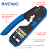 NASTAKO RJ45 Tool rj45 Crimping Tool Network Crimper Stripper Cutter Ethernet Cable Fit RJ45 Cat6 Cat5e Cat5 RJ11 RJ12 Connector review