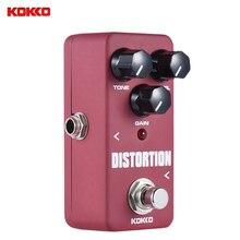 Kokko fds2 mini pedal de distorção portátil pedal efeito guitarra