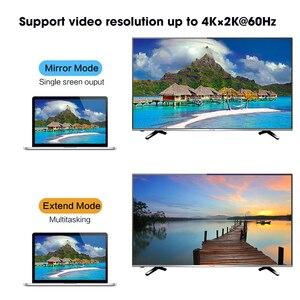Image 3 - Displyport Sang HDMI Max 4K Hdmi 2.0b 1 Ra Nam DP Sang HDMI Video 2K Âm Thanh cổng Kết Nối Cắm MOSHOU