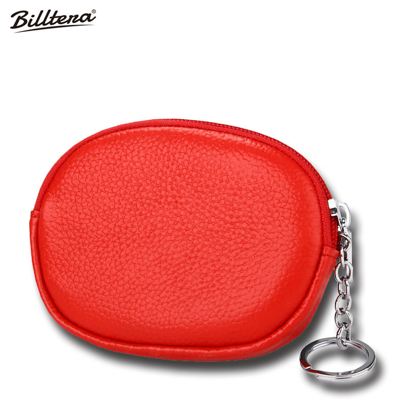 Hot Sale Explosion, Leather Personality, Mini Zero Wallet, Key Package, Public Transport Card Package, Small Oval Coin Purse