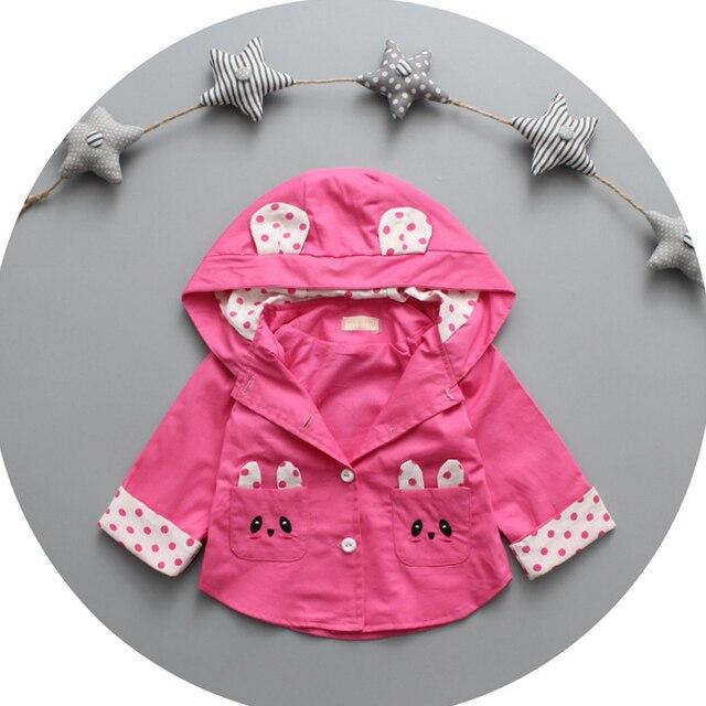 Новые Поступления Весна И Осень Пальто Детская Одежда Детская Пальто Куртки Вскользь Малышей Wrap Милые Дети Хлопка Верхняя Одежда