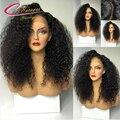 4*4 Дюйма Шелковый Топ Африканских Женщин Full Lace Человеческих Волос, Парики бразильские Волосы Девственницы Afro Kinky Вьющиеся Кружева Перед Парики Для Черного женщины