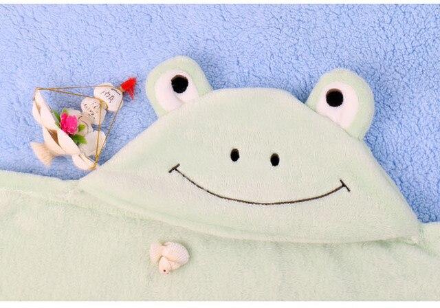 cAnimal Shape Baby Hooded Blankets bath towel newborn swaddle Carters Kid Toddler Hooded Cloak Quilt fleece wrap Baby Coak Cape