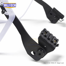 MILITECH NIJ IIIA 3A kuloodporny wizjer dla PASGT ACH szybki Picatinny Rail kask balistyczny wizjer dla taktycznych kasków kolejowych