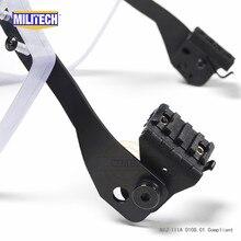 Пуленепробиваемый козырек MILITECH NIJ IIIA 3A для пасгта, быстрого пикатинного шлема, баллистический козырек для тактических шлемов на рельсах