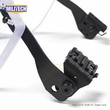 Militech nij iiia 3a pasgt ach 용 방탄 바이저 전술 레일 헬멧 용 fast picatinny railed 헬멧 탄도 바이저