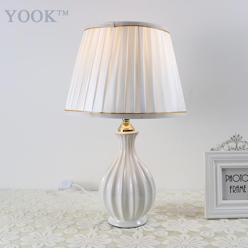 White Living Room Lamps: YOOK 2018 Modern Table Lamp Ceramic Table Lamp For Living
