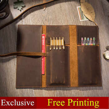 Genuine leather pencil case Pencil holder stationary for school students large Pen case chancery Office Pencil Bag free printing - DISCOUNT ITEM  18% OFF All Category