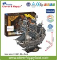155PCS The Queen Anne's Revenge kinds of handicrafts products 3d jigsaws puzzles toy ships for sale