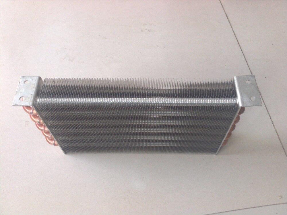 300mm * 155mm * 45mm refroidi à l'eau rangée condenseur évaporateur échangeur de chaleur radiateur personnalisé aileron radiateur-ventilateur radiateur