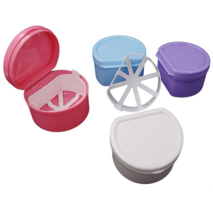 Протез Для ванной Box Дело зубные накладные зубы прибор контейнер для хранения Коробки аксессуары Красота maquiagem инструмент челнока 9.12