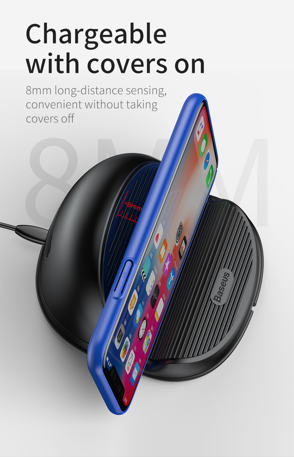 Baseus Desktop QI Wireless Charger 10W for iPhone XS Max XR Samsung S9 Note9 Huawei