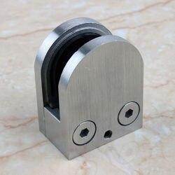 SUS 304 Edelstahl Glas Clamp Clip Flache Rückseite Halterung Für Handlauf Balustraden Treppen Post 8-10mm glas, 4-pcs, 11-315