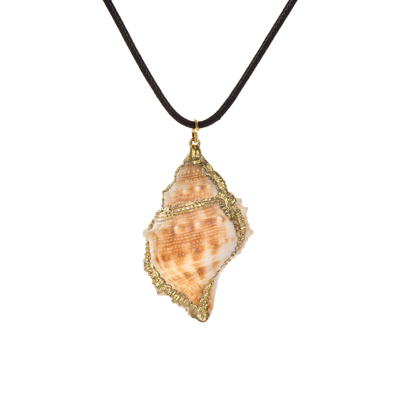 Wholesale Fashion Beach Sea Ocean Pu Conch Pendant Necklace For