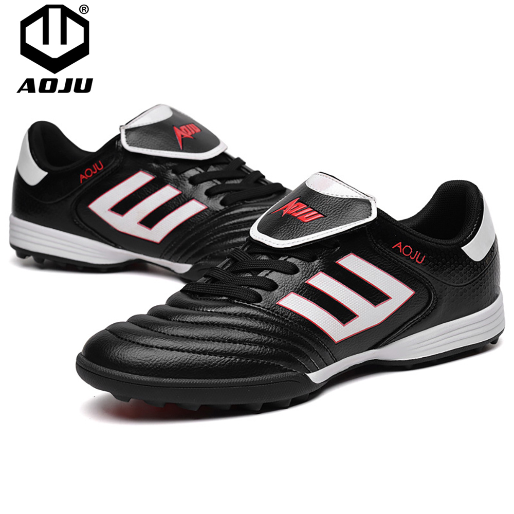 AOJU Football Boots Soccer Shoes Men Lightweight Football Shoes For Sale Kids Cleats TF Soccer Shoes