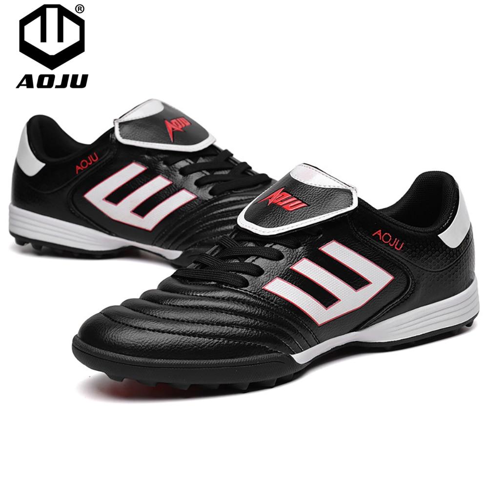 AOJU chaussures de Football chaussures de Football hommes chaussures de Football légères à vendre enfants crampons TF chaussures de Football Chuteira Futebol 4 couleurs