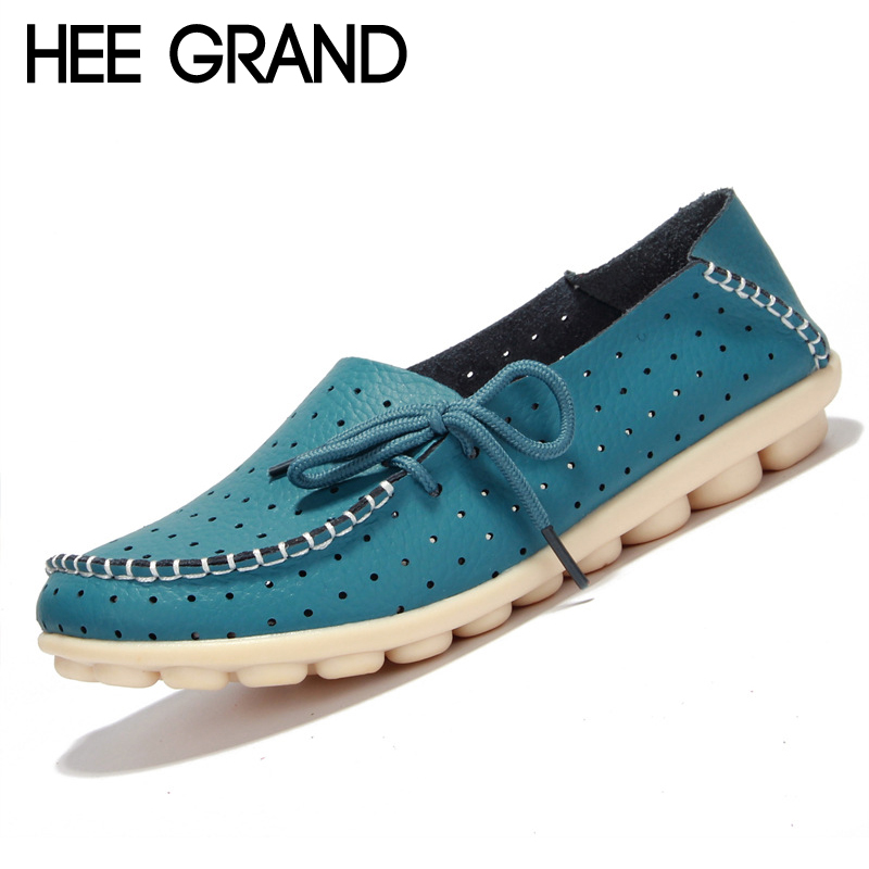 HEE GRAND Breathable Loafers Candy Colors Platform Shoes Woman 2017 Slip On Flats Casual Comfort Creepers Women Shoes XWD5580 hee grand 2017 creepers summer platform gladiator sandals casual shoes woman slip on flats fashion silver women shoes xwz4074