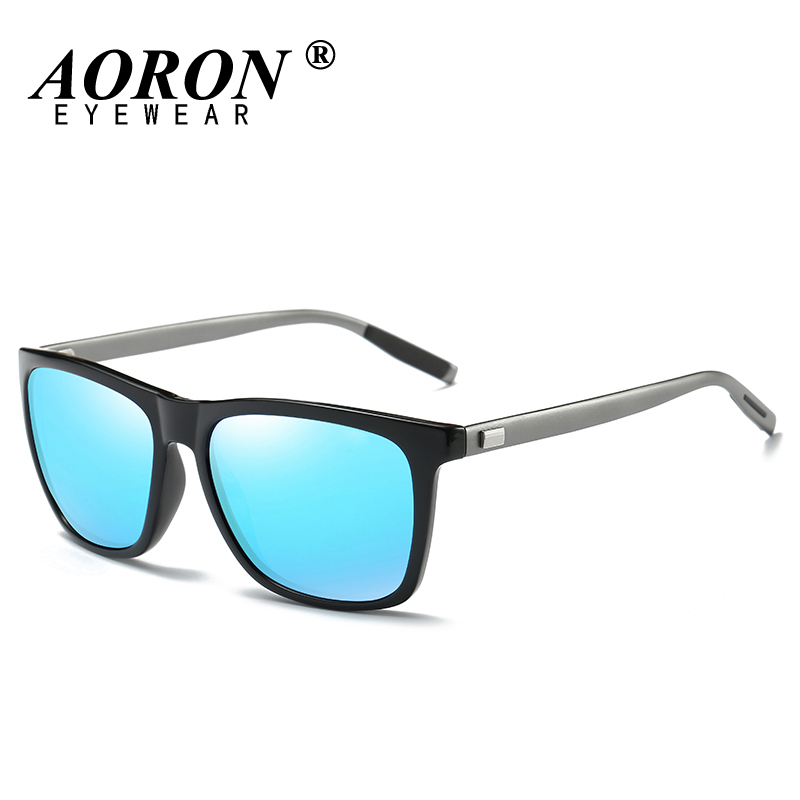 AORON Men's Metal Polarized Sunglasses Classic Brand ...