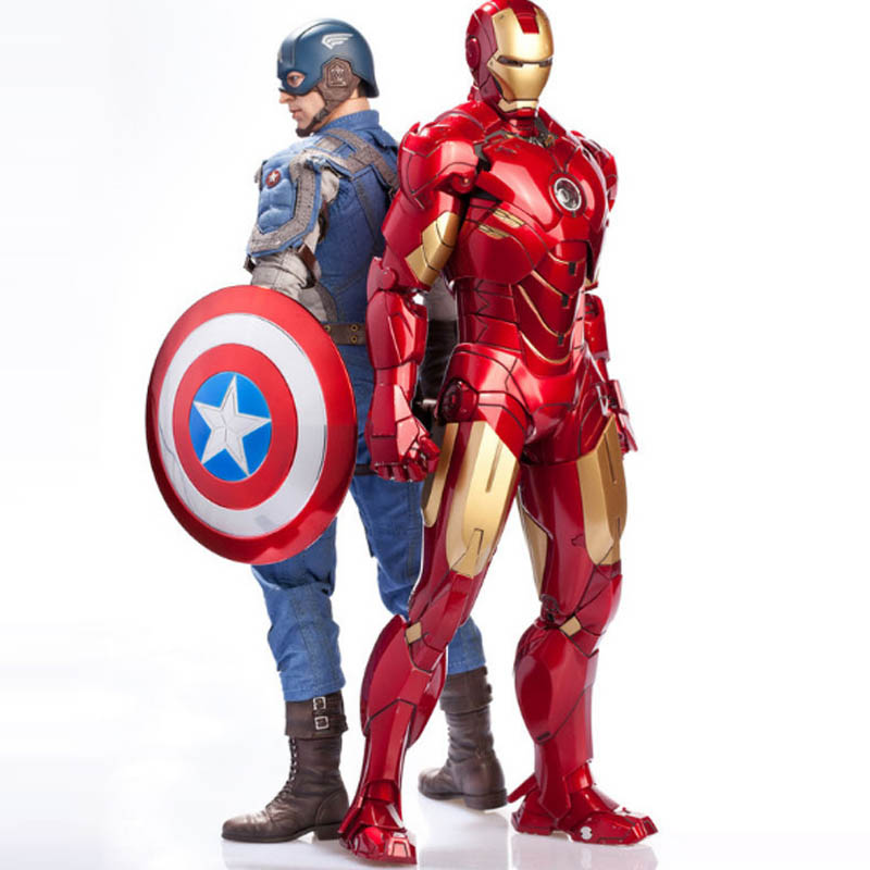 цена на 7inc Captain America Civil War action figure toys 2017 New Iron man war machine Panthers Scarlet witch Visual hallucination box