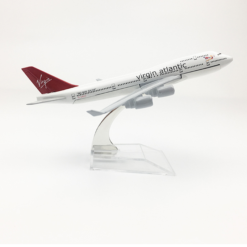 Virgin Atlantic Aeroplane Model Boeing 747 Airplane 16CM Metal Alloy Diecast 1:400 Airplane Model Toy For Children Free Shipping
