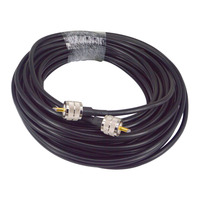 RG8X Coax Coaxial Antenna 15M Cable UHF Male to UHF Male Connectors 50 OHM Jumpers Amateur CB Radio Antenna Cable Wire