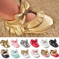 New Tassel Bowknot Baby Shoes Handmade Bowknot Toddler Girl Shoes Fashion Infant Baby Moccasins First Walker Free Shipping