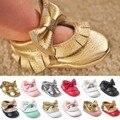 New Tassel Bowknot Sapatos Feitos À Mão Do Bebê Bowknot Sapatos Mocassins Moda Infantil Do Bebê Da Menina Da Criança Primeira Walker Frete Grátis