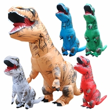 2017 Adult INFLATABLE Dinosaur Cosplay T REX Costume Blowup Halloween Inflatable Dinosaur Costume Halloween Costumes for Men