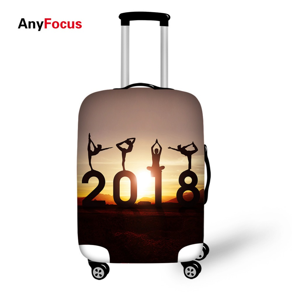 Exercise Print Luggage Protector Cover Suitcases Covers Waterproof Luggage Covers Accessory Bags Travel Trolley Case Cover
