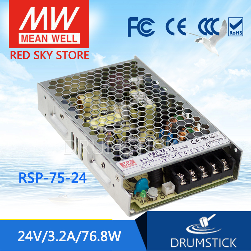 Advantages MEAN WELL RSP-75-24 24V 3.2A meanwell RSP-75 24V 76.8W Single Output with PFC Function Power Supply advantages mean well rsp 2400 12 12v 166 7a meanwell rsp 2400 12v 2000 4w single output power supply [real1]
