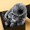Free Shipping 2017 Real Cute rabbit fur rabbit play dead rabbit hanging ornaments car women's backpack keychain bag